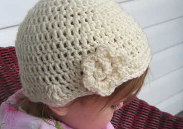 My Longest Year: Crochet Toddler Beanie Hat w/Flower